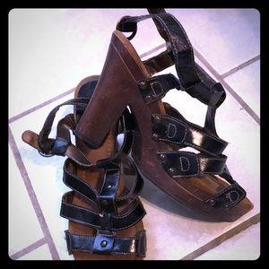 Wooden heeled Heels